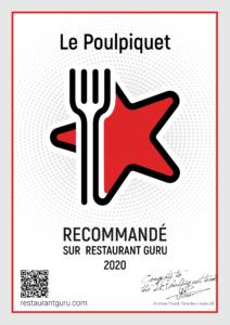 Certificat d'excellence Restaurant Guru
